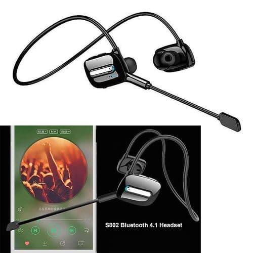 Casque Sans Fil Bluetooth Écouteurs Tour De Cou Écouteurs Casque Avec Microphone